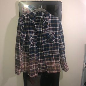Super cool hand dyed flannel